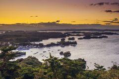 Baía de Matsushima, Japão Foto de Stock Royalty Free