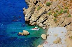 Baía de Meganom, Crimeia Fotografia de Stock Royalty Free