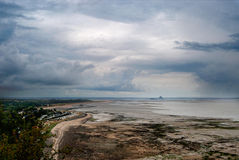 Baía de Mont Saint-Michel Fotos de Stock Royalty Free