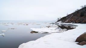 A baía de Nagaev/mola fotos de stock royalty free