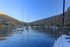 Baía de Palionisos na ilha de Kalymnos Fotos de Stock Royalty Free
