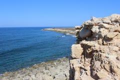Baía de Paphos Imagem de Stock Royalty Free