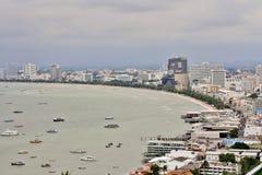Baía de Pattaya e praia, Tailândia Imagens de Stock Royalty Free