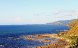 Baía de Pukerua, Kapiti, Wellington, Nova Zelândia Imagens de Stock Royalty Free