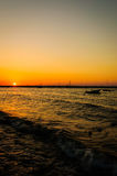 Baía de relaxamento do por do sol Fotografia de Stock Royalty Free