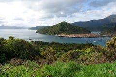 Baía de Shakespeare perto de Picton Nova Zelândia foto de stock