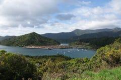 Baía de Shakespeare perto de Picton Nova Zelândia foto de stock royalty free