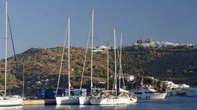 Baía de Skala na ilha de Patmos imagens de stock royalty free