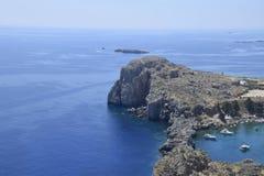 Baía de StPaul, Grécia Imagens de Stock