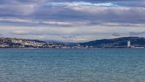 Baía de Swansea, Gales, Reino Unido imagens de stock royalty free