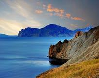 Baía de Tikhaya, Crimeia, perto de Feodosiya Fotos de Stock Royalty Free