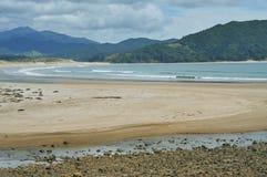 Baía de Waikawau na península de Coromandel Fotografia de Stock Royalty Free
