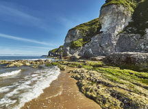 Baía de Whiterocks, condado Antrim, Irlanda do Norte Imagens de Stock