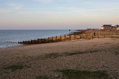 Baía de Whitstable em Kent fotografia de stock
