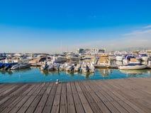 Baía de Zaitunay em Beirute, Líbano imagens de stock royalty free