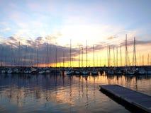 Baía do barco na Suécia Foto de Stock
