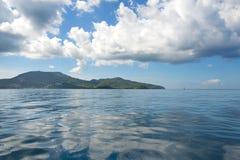Baía do Fort de France - ilha tropical de Martinica, mar das caraíbas Imagem de Stock