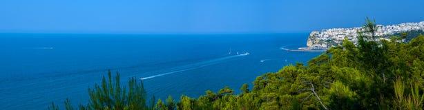 Baía do garganico de Rodi - Apulia ITALIA fotografia de stock royalty free