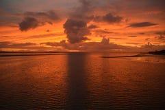 Baía do hervey do nascer do sol Fotografia de Stock