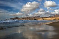 Baía do La descascada, Fuerteventura, Ilhas Canárias Foto de Stock