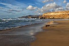 Baía do La descascada, Fuerteventura, Ilhas Canárias Imagens de Stock