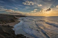 Baía do La descascada, Fuerteventura, Ilhas Canárias Fotografia de Stock Royalty Free