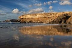 Baía do La descascada, Fuerteventura, Ilhas Canárias Fotos de Stock Royalty Free
