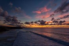 Baía do La descascada, Fuerteventura, Ilhas Canárias Imagens de Stock Royalty Free