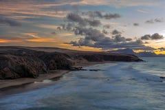 Baía do La descascada, Fuerteventura, Ilhas Canárias Fotografia de Stock