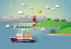 Baía do mar ilustração royalty free