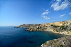 Baía do rih de Fomm Ir, Malta Foto de Stock Royalty Free