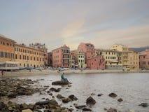 A baía do silêncio, Sestri Levante, Liguria, Itália Fotos de Stock