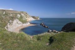 Baía do St Oswalds perto da porta de Durdle, Dorset imagem de stock royalty free
