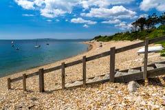 Baía Dorset de Ringstead fotografia de stock royalty free