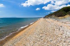 Baía Dorset de Ringstead fotografia de stock