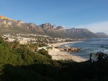 Baía dos acampamentos, cabo ocidental, África do Sul Foto de Stock Royalty Free