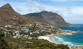 Baía dos acampamentos (Cape Town, África do Sul) fotografia de stock royalty free