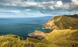 A baía dos espírito no cabo Reinga Foto de Stock
