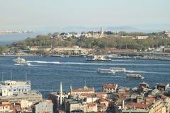 Baía dourada do chifre em Istambul fotos de stock