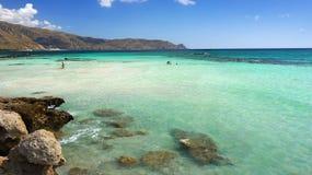 Baía Elafonisi do paraíso Fotos de Stock Royalty Free