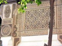 Baía em C4marraquexe O palácio Mussy do si bonito Fotografia de Stock