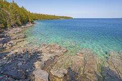 Baía escondida nos grandes lagos imagens de stock royalty free