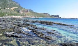 Baía Grécia de Balos Foto de Stock