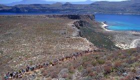 Baía Grécia de Balos Fotos de Stock