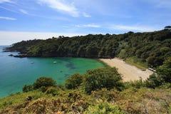 Baía Guernsey de Fermain Fotografia de Stock Royalty Free