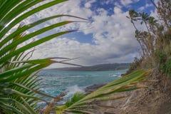 Baía havaiana tropical imagens de stock royalty free