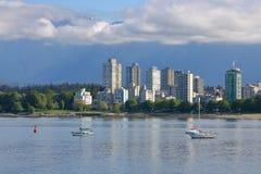 Baía inglesa e Vancôver do centro, Canadá Fotografia de Stock Royalty Free