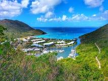 Baía mágica bonita do st Maarten Fotografia de Stock Royalty Free