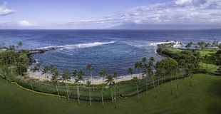 Baía Maui Havaí de Kapalua fotografia de stock royalty free