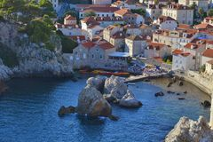 Baía na Croácia de Dubrovnik Fotografia de Stock